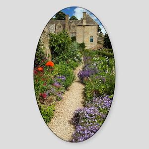 Herbaceous garden plants, UK Sticker (Oval)