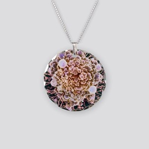 HeLa cell dying, SEM Necklace Circle Charm