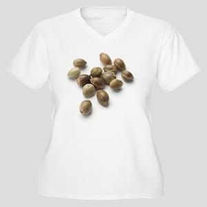 Hemp seeds Women's Plus Size V-Neck T-Shirt
