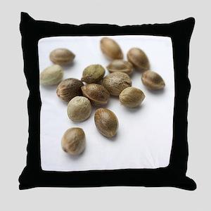 Hemp seeds Throw Pillow