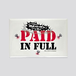 Jesus Paid In Full Rectangle Magnet