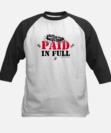 Jesus Paid In Full Kids Baseball Jersey