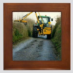 Hedge cutting Framed Tile