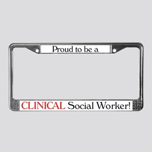 Proud Clinical SW License Plate Frame