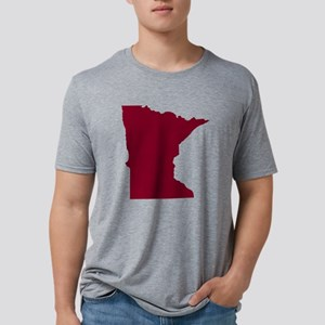 Minnesota State Shape Outli Mens Tri-blend T-Shirt