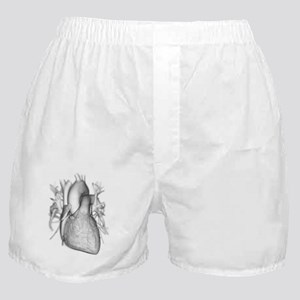 Heart with coronary vessels Boxer Shorts