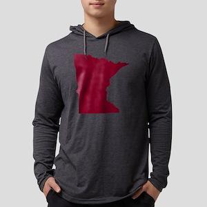 Minnesota State Shape Outline Mens Hooded Shirt