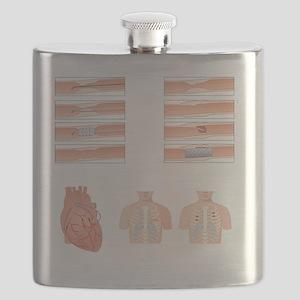 Heart disease treatment, artwork Flask