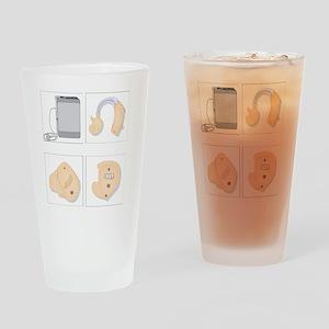 Hearing aids, artwork Drinking Glass