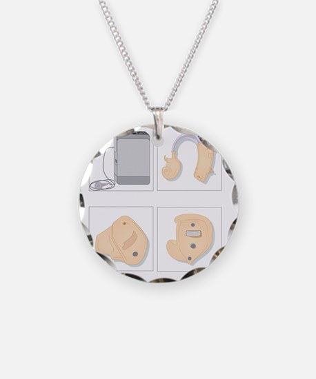 Hearing aids, artwork Necklace