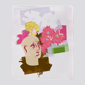 Hay fever, conceptual artwork Throw Blanket