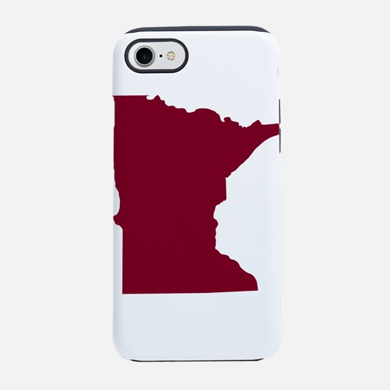 Minnesota State Shape Outline iPhone 7 Tough Case