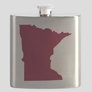 Minnesota State Shape Outline Flask