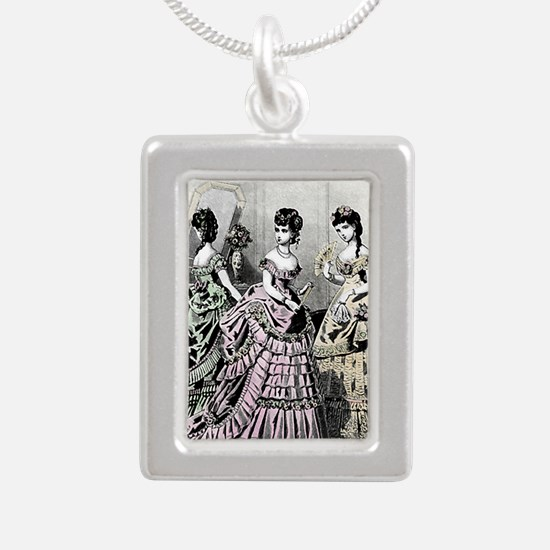 Embassy Ball, Card Silver Portrait Necklace