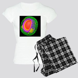 H1N1 flu virus particle, ar Women's Light Pajamas