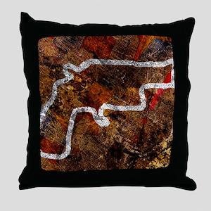 Gun crime, conceptual image Throw Pillow