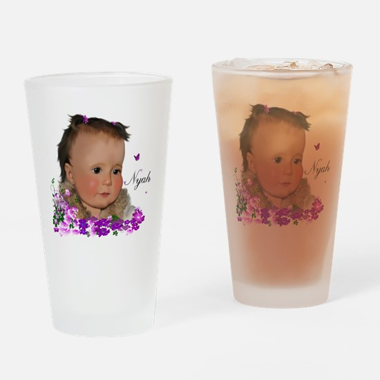 Family_NyahT Drinking Glass