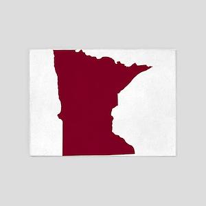 Minnesota State Shape Outline 5'x7'Area Rug
