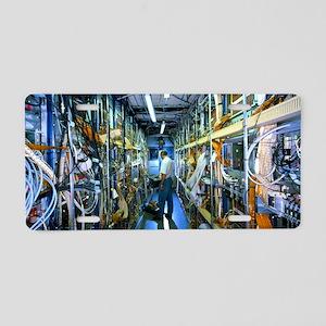 H1 particle detector electr Aluminum License Plate