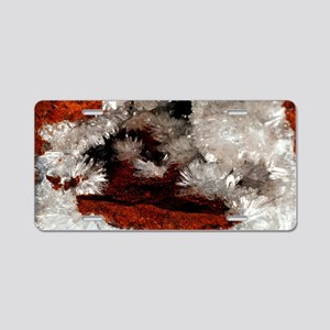 Gypsum crystals Aluminum License Plate