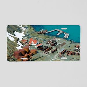 Grytviken whaling station,  Aluminum License Plate