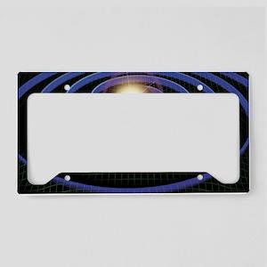 Gravity waves, artwork License Plate Holder