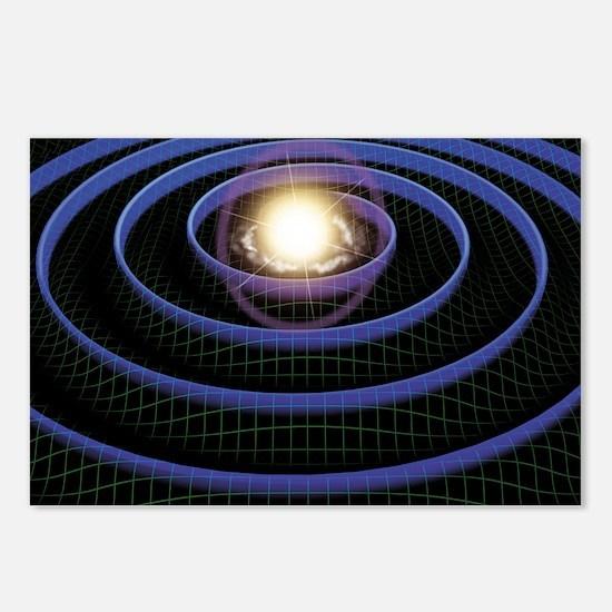Gravity waves, artwork Postcards (Package of 8)