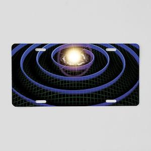 Gravity waves, artwork Aluminum License Plate