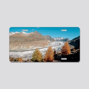 Great Aletsch glacier, Swit Aluminum License Plate