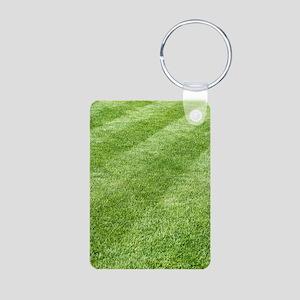 Grass lawn Aluminum Photo Keychain