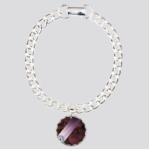 Graphite crystals Charm Bracelet, One Charm