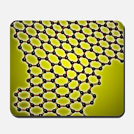 Graphene, molecular structure Mousepad