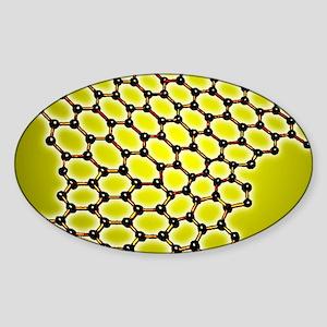 Graphene, molecular structure Sticker (Oval)