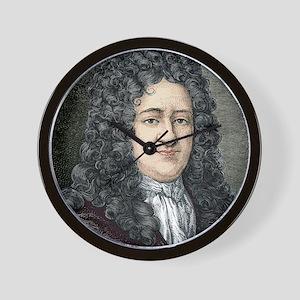 Gottfried Leibniz, German mathematician Wall Clock