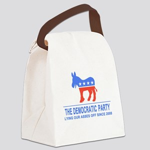 Lying Dems Canvas Lunch Bag