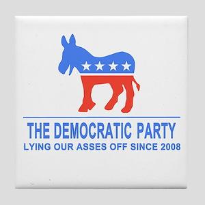 Lying Dems Tile Coaster