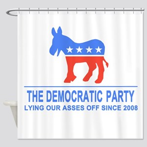 Lying Dems Shower Curtain