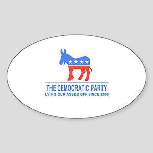 Lying Dems Sticker (Oval)