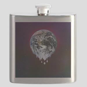 Global warming, conceptual image Flask