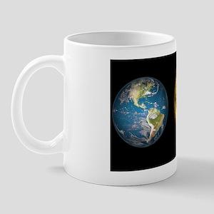 Gliese 581 c and Earth compared, artwor Mug