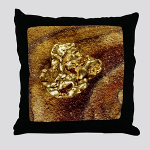 Gold nugget Throw Pillow