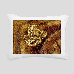 Gold nugget Rectangular Canvas Pillow