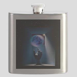Global environment, conceptual artwork Flask
