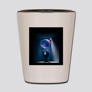 Global environment, conceptual artwork Shot Glass