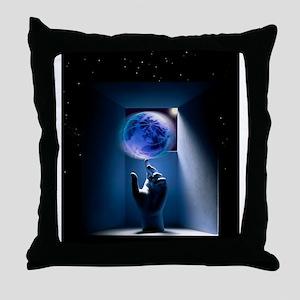 Global environment, conceptual artwor Throw Pillow