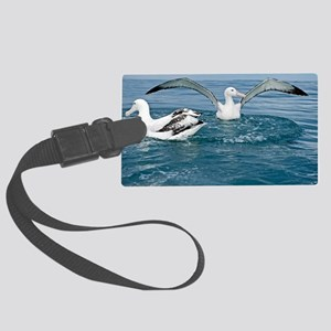Gibson's wandering albatrosses Large Luggage Tag