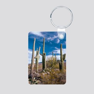 Giant Cactus (Carnegiea gi Aluminum Photo Keychain