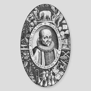 Giambattista della Porta Italian po Sticker (Oval)