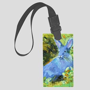 Blue Bunny Large Luggage Tag