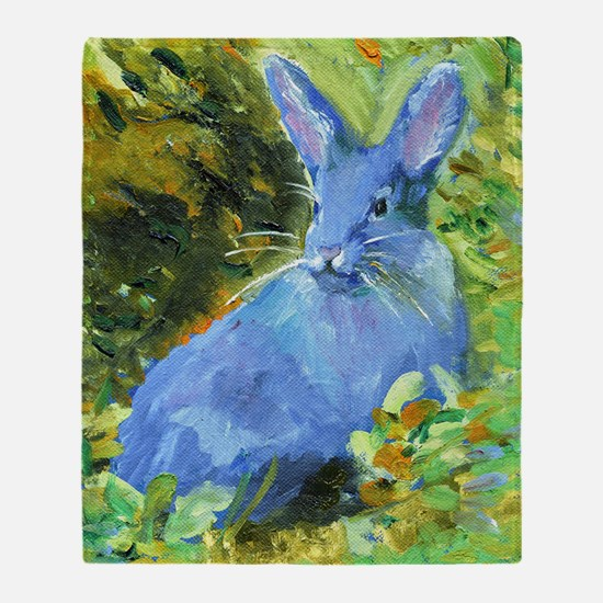 Blue Bunny Throw Blanket